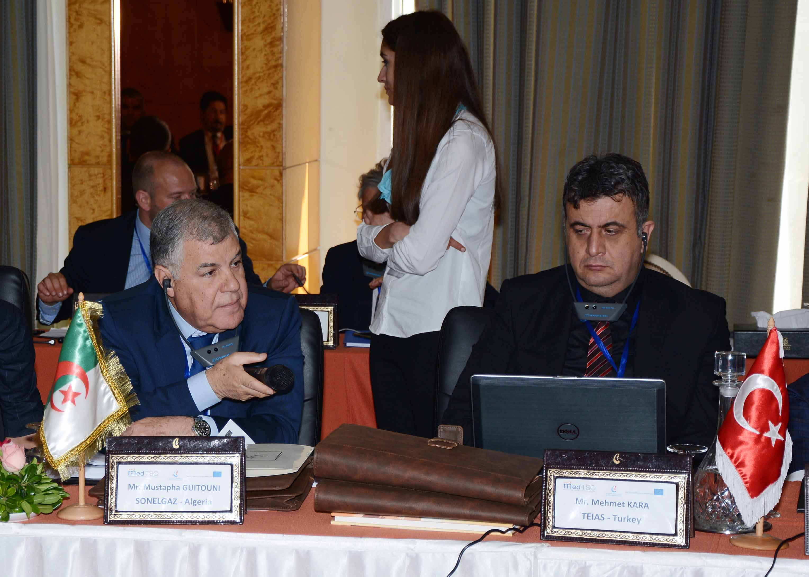 General Assembly - Mr. Guitouni (CEO of SONELGAZ) and Mr. Kara (TEIAS)