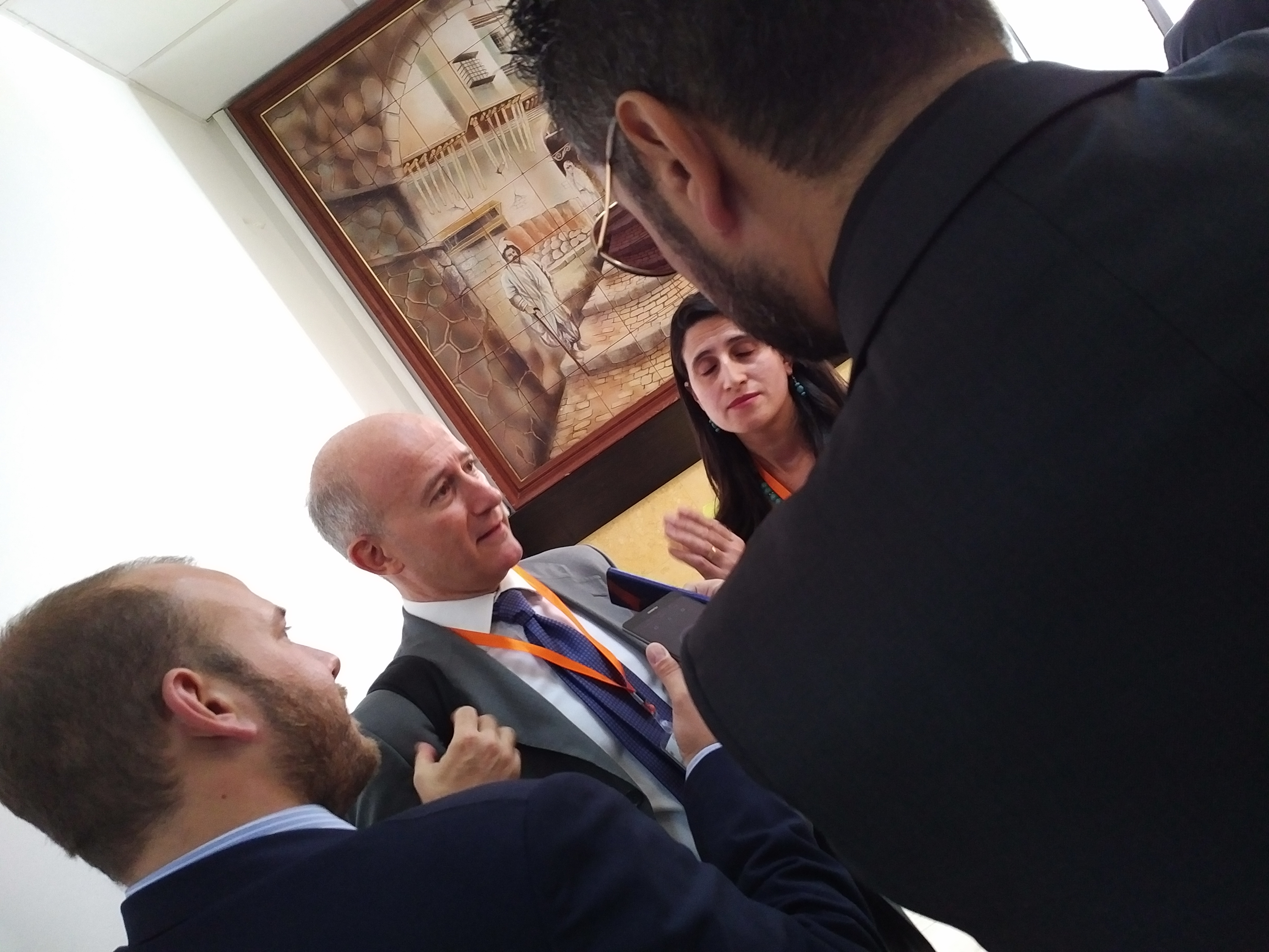Press Conference - Angelo Ferrante answering to the journalists