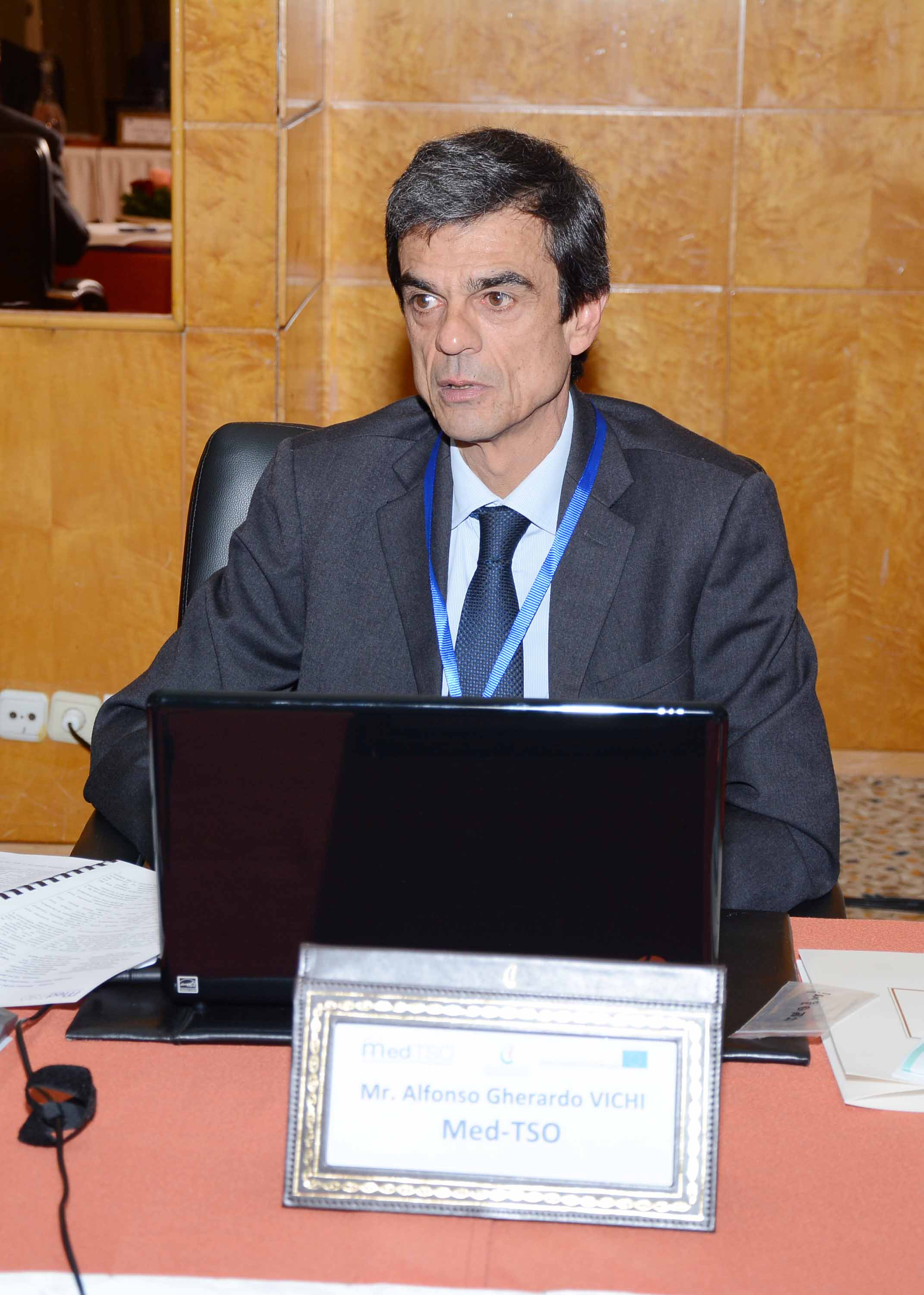 During the Executive Board meeting: Med-TSO Financial Manager and Treasurer Mr. Vichi