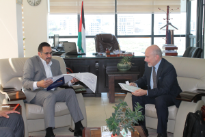 Representatives of Palestinian Electricity Transmission Company and of Palestinian Energy & Natural Resources Authority met the Secretary General of Med-TSO in Ramallah
