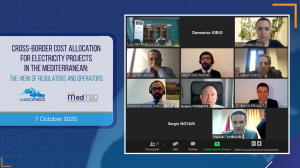 """""""Cross-border Cost Allocation: How to assign costs and risks of interconnection projects?"""" MEDREG & Med-TSO held the Webinar """"Cross-Border Cost Allocation for Electricity Projects in the Mediterranean: the view of Regulators and Operators"""""""